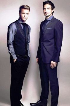 Marco Reus and Mats Hummels in suit 2014