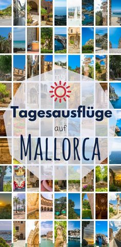 Day trip to Mallorca. You are flying to Majorca and are still looking for travel tips for a perfect holiday? I'll give you tips for day trips on the island: Palma, Santanyi, Cap de Formentor, Soll Europe Destinations, Holiday Destinations, Menorca, Petra, World Days, Figueras, Travel Tags, Balearic Islands, Cruise Tips