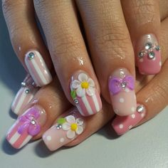 pink japanese nail art. Instagram photo by @nail28tsenwei via ink361.com