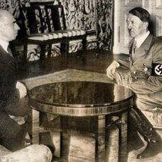 Today in WW2 history 3/15/39 Czech Pres Hácha strong-armed to accept invasion. In the evening of March 14, Czechoslovakian President Emil Hácha is summoned to the Reich Chancellery in Berlin where he is kept waiting until 1am while Hitler watches a movie. Keitel, Göring, Ribbentrop, & Adolf's personal physician Dr. Theodore Morell attend the meeting. Hácha is told that at 6am his country would be invaded. Hácha fainted twice during the negotiations and was revived by injections from Dr… Munich Agreement, Interwar Period, Instant Karma, West Berlin, Strong Arms, Ww2 History, The Third Reich, Crazy People, World War Two