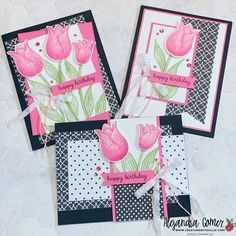 Learn how to make beautiful birthday cards using the Timeless Tulips Bundle from Stampin' Up! Diy Paper, Paper Crafts, Beautiful Birthday Cards, Color Club, Fun Fold Cards, Heartfelt Creations, Flower Cards, Your Cards, Stampin Up