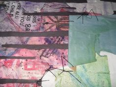 "Reviewed as ""abstract poetry,"" these mixed-media collage collections, titled ""Les Cahiers (d'Alex)"" and ""...the heart"" approx. 80% recycled, found items,other media: thread, Elmer's(R) glue, cardboard, water color and acrylic paints, crayons, cosmetics,etc. Artfully unframed with thread hook(s) on backs to highlight the collages' rawness. Many works include homework from school days and personal notes to self and loved ones. Sentimental and compelling. (Contact me for availability and…"