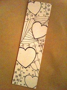 Zentangle Bookmark by ThinkingOfBlue, via Flickr