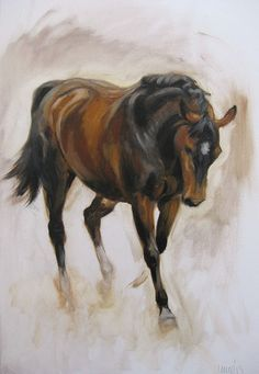 Original oils on canvas horse painting