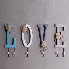 Wall Decor Wall Art American Village Wooden Letters Clothes Hooks 5640563 2017 – $48.99