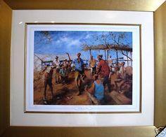 Hugh Sawrey large oil print titled Two Up at the Races Australia Racing, Australia, Oil, Prints, Painting, Running, Auto Racing, Painting Art, Paintings