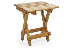 Sunrise Outdoor Side Table, Oak | Sunrise Chair Co.