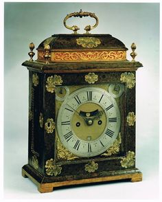 A Late 17th Century Lacquer Bracket Clock Vintage Clocks, Old Clocks, Antique Clocks, Great Britain Countries, Unusual Clocks, William And Mary, Hit The Floors, Grandfather Clock, Telling Time