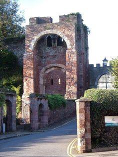 Rougemont Castle Gatehouse, Exeter. Devon, England