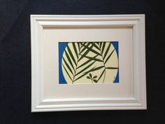 SM Framed Pressed Botanical   Parlor Palm by MyStoningtonGarden, $30.00