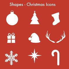 Freebie Pixelmator Template - Christmas Icons Christmas Icons, Christmas Templates, Shapes, Home Decor, Decoration Home, Room Decor, Home Interior Design, Home Decoration, Interior Design