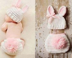 Infant baby bunny crochet custom 0-6 months by Faithfulcreationz