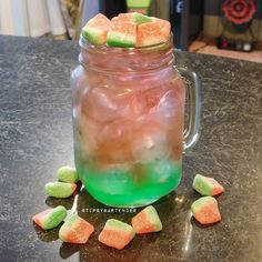 Watermelon Blast Cocktail - For more delicious recipes and drinks, visit us here: www.tipsybartender.com