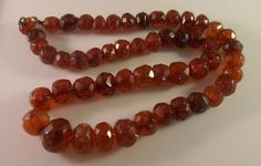 Victorian Faceted Cherry Amber Necklace by LynnHislopJewels