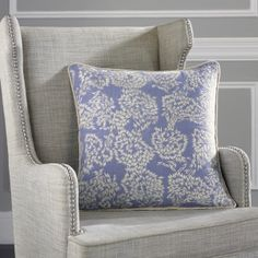 A riot of embroidered white flowers burst forth from the 100% linen...
