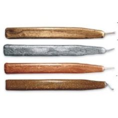 Metallic Assortment (Gold, Silver, Copper, Sparkling Bronze) Scottish Sealing Wax with wick