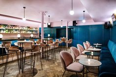 Love is Grind: plush pinks and bewitching blues define new design direction for caffeine and cocktail gurus...