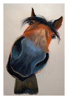 Happy Horse Dave Painting - Happy Horse Dave Fine Art Print ✨✨Visit our shop canvas art here - Free Horse Drawings, Animal Drawings, Art Drawings, Horse Face Drawing, Painted Horses, Arte Equina, Art Fantaisiste, Animal Paintings, Horse Paintings