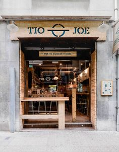 Tio Joe burger restaurant branding You are in the right place about Restaurant logo Here we offer you the most beautiful pictures about the Restaurant furniture you are looking for. When you examine t Burger Bar, Burger Restaurant, Restaurant Branding, Local Burger, Burger Branding, Cafe Shop Design, Small Cafe Design, Cafe Interior Design, Resto Vegan