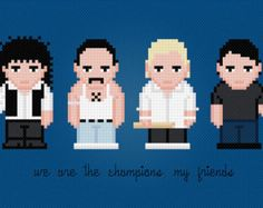 Red Hot Chili Peppers With Socks Rock Band by AmazingCrossStitch