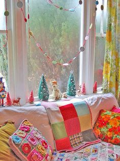 Colorful, vintage & shabby chic christmas