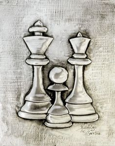 ArteyMetal: Placa decoración. Ajedrez 05 Pencil Art Drawings, Art Sketches, Chess Piece Tattoo, Queen Chess Piece, Baby Girl Drawing, Ink Pen Art, King Design, Chess Pieces, Daily Drawing