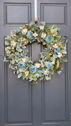 Peonies with mixed greenery create this stunning wreath. Suitable for a variety of home decor styles and can be left up all year. Rose Gold Christmas Decorations, Christmas Mesh Wreaths, Holiday Wreaths, Gold Wreath, Diy Wreath, Tulle Wreath, Burlap Wreaths, Door Wreaths, Summer Wreath