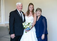 bride & parents portrait Wedding at Arlington Heights United Methodist and The Fort Worth Club