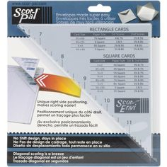 Scor-Pal SCOR-ENVI DIAGONAL AND ENVELOPE Template 56697
