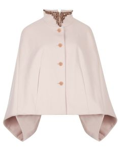 HOLLISI - Embellished collar cape - Baby Pink | Womens | Ted Baker UK