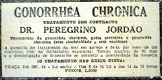 1932 - Gonorréia Crônica, tratamento com Dr. Peregrino Jordão.
