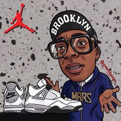 My Boy Spike Lee got some fresh Jordans.