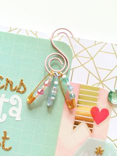 Planner paperclip S shaped clip safety pins by PocketfulofSparkles Paperclip Crafts, Bead Crafts, Paper Crafts, Diy Crafts, Paperclip Bookmarks, Mundo Silhouette, Scrapbook Paper, Scrapbooking, Envelopes