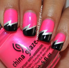 31 Day Nail Challenge--Day 21: Inspired by a Color (China Glaze Pink Voltage)