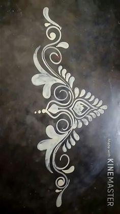Rangoli Side Designs, Simple Rangoli Border Designs, Rangoli Designs Latest, Rangoli Borders, Free Hand Rangoli Design, Rangoli Patterns, Colorful Rangoli Designs, Rangoli Designs Diwali, Rangoli Designs Images