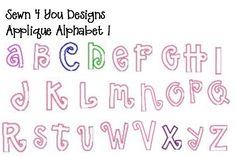 Letter Patterns | Alphabet Letters To Applique | How to Applique
