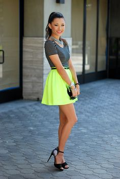 fashion fashion blog hapa neon lime green circle skirt california fashion 2013 fashion