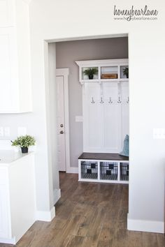 This DIY mudroom bench turned out so beautiful and custom looking.