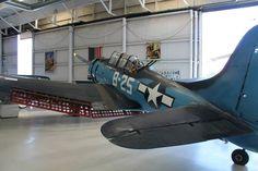 Douglas SBD Dauntless dive bomber. US Navy, WW2. Palm Springs Air Museum. Photo by Patrick Mack.