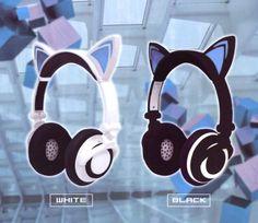 Lighting Cat Ear Headphone ~ Black $35.00 http://thingsfromjapan.net/lighting-cat-ear-headphone-black/ #cat ear headphone #kawaii headphone #cute Japanese headphone