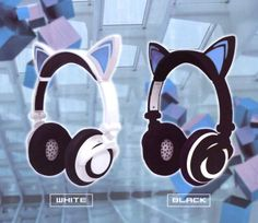 Lighting Cat Ear Headphone ~ Black $35.00 http://thingsfromjapan.net/lighting-cat-ear-headphone-black/ #cat ear headphone #kawaii headphone #cute Japanese headphone