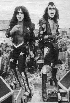 Paul Stanley and Gene Simmons of KISS.