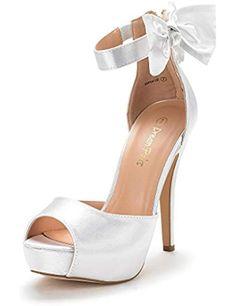 94c4dec121a2 Women s SWAN-08 Ankle Strap Heel Pump Shoes Sandals