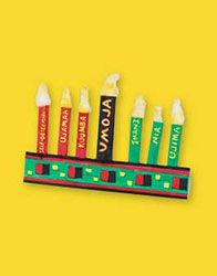Folded Paper Kwanzaa Kinara - Pinned by @PediaStaff – Please visit http://ht.ly/63sNt for all (hundreds of) our pediatric therapy pins