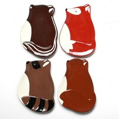 Foxy Fall Plates Set Of 4 now featured on Fab.