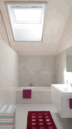 White PU and PVC roof window frames are perfect for bathrooms as they're easy to clean and resist the humidity.