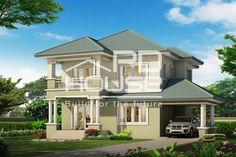 แบบบ้าน W-991, บ้าน 2 ชั้น, ห้องนอน 3 ห้อง, ห้องน้ำ 3 ห้อง, ที่จอดรถ 1 คัน, พื้นที่ใช้สอย 203 ตารางเมตร, ขนาดที่ดิน 72 ตารางวา, กว้าง 17 เมตร, ยาว 17 เมตร