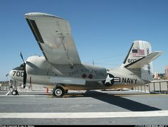 """Seen displayed on the retired aircraft carrier USS Midway, CVN41, is this C-1A Trader. Aircraft is based upon the airframe of the S2 Tracker, but was specificly built to carry cargo & personnel. Note that the aircraft wears """"Easy Way Airlines"""" titles. - Photo taken at San Diego [OFF AIRPORT] in California, USA on March 15, 2005."""