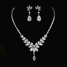 Belle Bridal l stunning crystals wedding jewelry set | Belle Bridal Jewellery l headpieces, jewelry, accessories shipping worldwide Wedding Jewelry Sets, Bridal Jewellery, Wedding Earrings, Bridal Accessories, Jewelry Accessories, Belle Bridal, Crystal Wedding, Bridesmaid Jewelry, Headpieces
