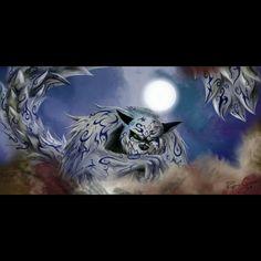 (伝説のレアエックス: 一尾の巨獣 • 守鶴) Legendary rare X: One-tailed Beast, Shukaku - Finishing move: Tailed-Beast Ball & Sand Buckshot - Artwork by Cptnt